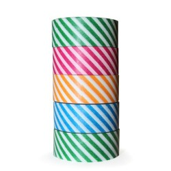 5 Washi tape lineal (5 pack de 10)