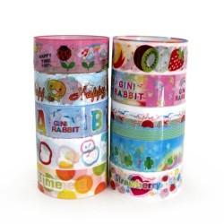 10 Washi tape plástico infantil (10 pack de 10)