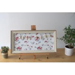 Marco foto con pinzas M - floral