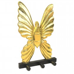 Perchero madera - Mariposa Dorada