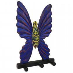 Perchero madera - Mariposa Multicolor