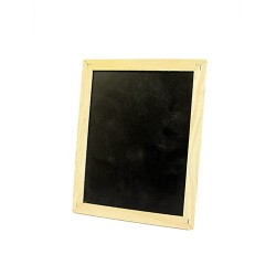 4 Pizarras pequeñas marco 21.5x17cm