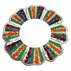 2 Espejos mosaico arco iris - 40cm
