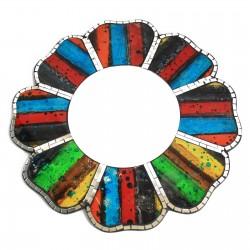 2 Espejos mosaico cuatro colores - 40cm