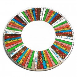 2 Espejos mosaico redondo arco iris - 40cm