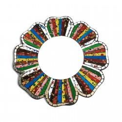 2 Espejos mosaico arco iris - 30cm