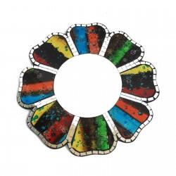 2 Espejos mosaico cuatro colores - 30cm
