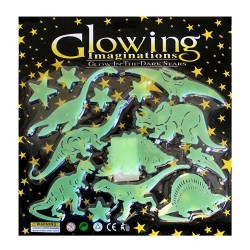 10 Big pack glow in the dark - Dinosaurios
