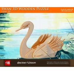 4 Puzzles de madera 3d - cisne