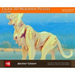 Puzzle de madera 3d - tigre