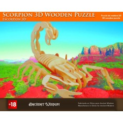 4 Puzzles de madera 3d - escorpión
