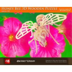 4 Puzzles de madera 3d - abeja