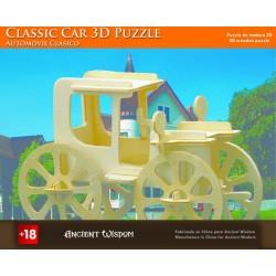 4 Puzzles de madera 3d - coche clásico