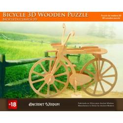 4 Puzzlez de madera 3d - bicicleta