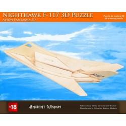 4 Puzzlez de madera 3d - caza F117