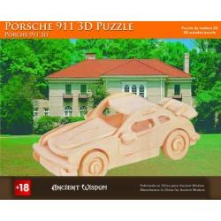 4 Puzzlez de madera 3d - porsche 911