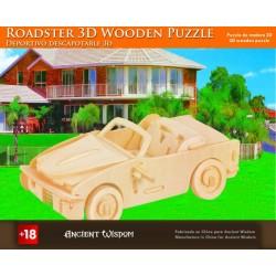 4 Puzzlez de madera 3d - roadster