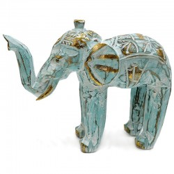 Elefante turquesa 27cm