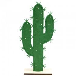 6 Cactus decorativo fieltro y madera 19x35.5cm