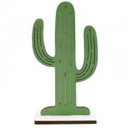 6 Figuras madera cactus 8x15.5 cm