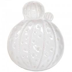 2 Platos porcelana cactus 21x27x4cm - blanco