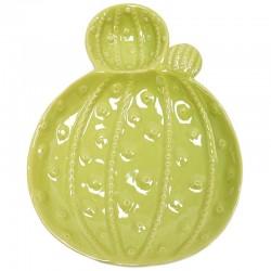 2 Platos porcelana cactus 21x27x4cm - verde claro