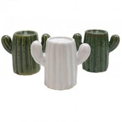 12 Portavelas cerámica night light - cactus variados