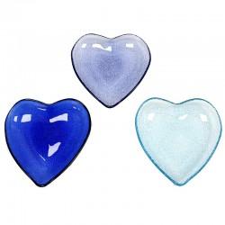 3 Platos cristal corazón - mediano