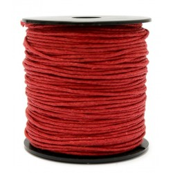 Cuerda Encerada Rojo 90m