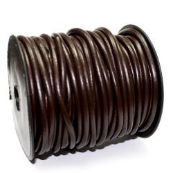 Cordel Cuero Negro 4mm Rollo 20m