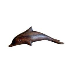 12 Delfines madera Sonokeling 8 cm