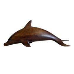 6 Delfines madera Sonokeling 15cm