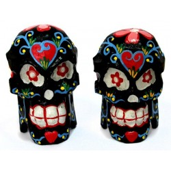 2 Máscaras calavera madera - negra