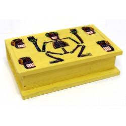 2 Cajas calaveras - amarilla