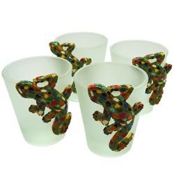 4 Chupitos lagarto tipo Gaudí