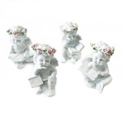 4 Querubines corona rosas con libro