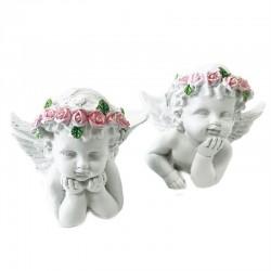 4 Querubines corona rosas posando