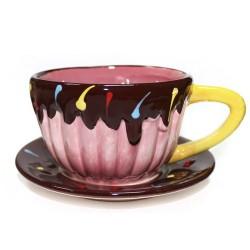 2 Sets taza grande 4 colores cerámica