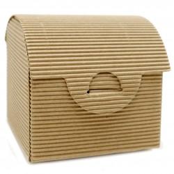 10 Cajas cartón cofre 8.5x7.5x7.5cm