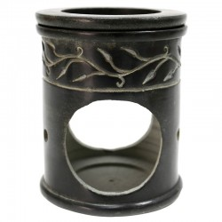 Quemador diseño hoja - mármol negro