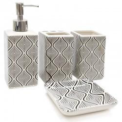 "Set baño 4 pzas. diseño ondas ""África Ruge"""