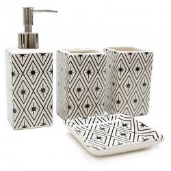 """Set baño 4 pzas. diseño estrellas """"África Ruge"""""""