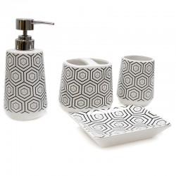 "Set baño 4 pzas. diseño panal ""África Ruge"""