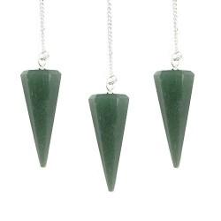 3 Péndulos mágicos - aventurina verde