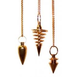 3 Péndulos Especiales - Metal Dorado