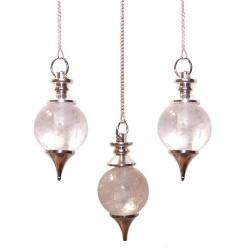 3 Péndulos Esferas - Cuarzo Roca