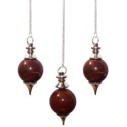 3 Péndulos Esferas - Jaspe Rojo