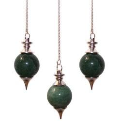 3 Péndulos Esferas - Aventurina Verde