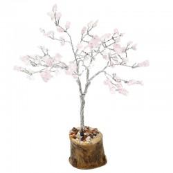 Árbol de gemas Feng Shui - 100 gemas cuarzo rosa