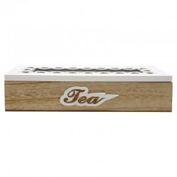 Caja madera y cristal (4 departamentos)